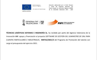 TLSI ha recibido por parte del Agencia Valenciana de la  Innovación AVI apoyo y financiación